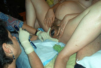 Naples transsexual giving birth ritual